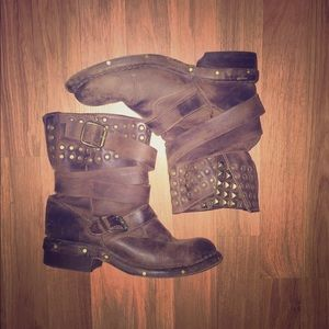 Bed Stu Studded Leather Boots